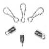 Nickel Spring With Hook & Clasp 3.5mm Hole/ 2S Prings 1Hook 100set